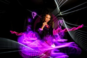 animation light-painting. Animation photographique